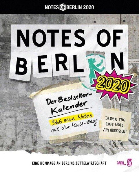 Notes of Berlin 2020 -