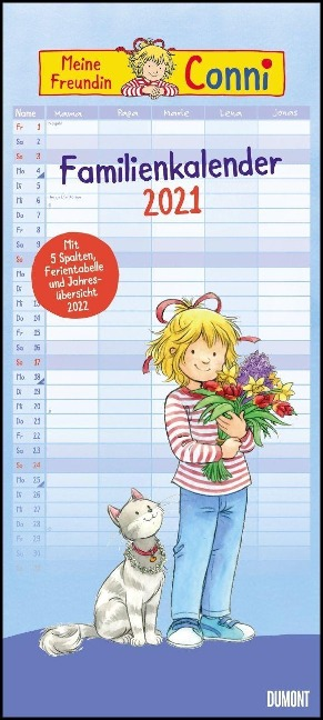 Conni Familienkalender 2021 - Wandkalender -