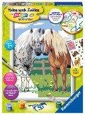 Glückliche Pferde. Malen nach Zahlen Serie D Pferde -