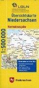 Übersichtskarte Niedersachsen 1 : 500 000. Normalausgabe -