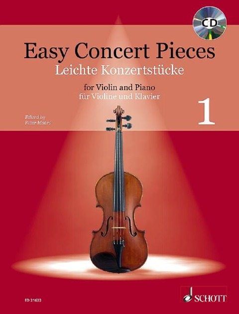 Easy Concert Pieces. Violine und Klavier Band 1. Ausgabe mit CD -