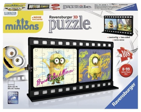 Minion Movie - Natural. 3D Puzzle-Ball 108 Teile -