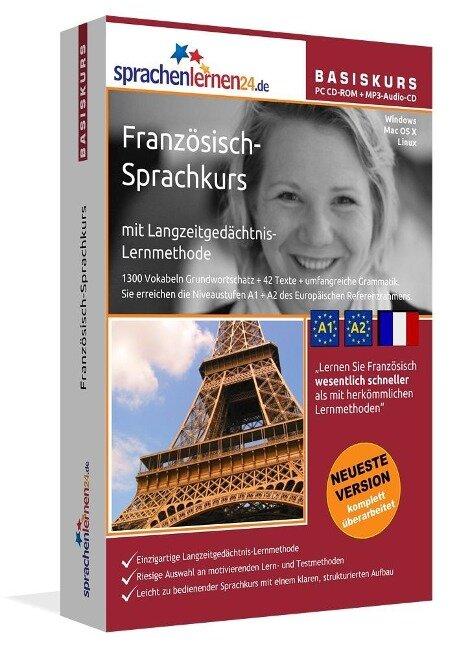 Sprachenlernen24.de Französisch-Basis-Sprachkurs. PC CD-ROM für Windows Vista; XP, NT; ME; 2000; 98Linux/Mac OS X + MP3-Audio-CD für Computer /MP3-Player /MP3-fähigen CD-Player -