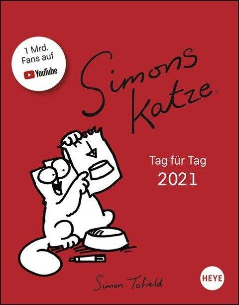 Simons Katze Tagesabreißkalender - Kalender 2021 - Simon Tofield