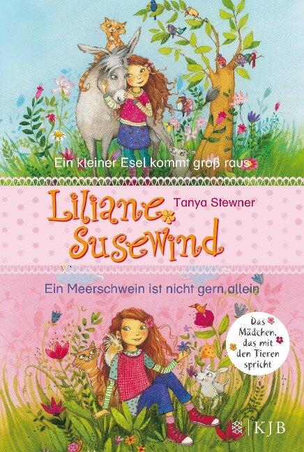 Liliane Susewind. Ein kleiner Esel kommt groß raus & Ein Meerschwein ist nicht gern allein. (Doppelband 1 & 2 für jüngere Leser) - Tanya Stewner