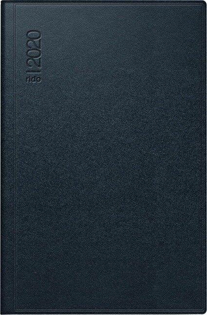 rido Taschenkalender 2020 Industrie I, Leder schwarz -