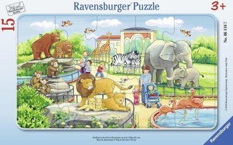Ausflug in den Zoo. Rahmenpuzzle 15 Teile -