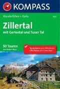 Kompass Wanderführer Zillertal mit Gerlostal und Tuxer Tal - Herbert Mayr