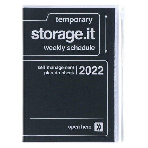 MARK'S 2021/2022 Taschenkalender B6 vertikal, Storage it // Black -