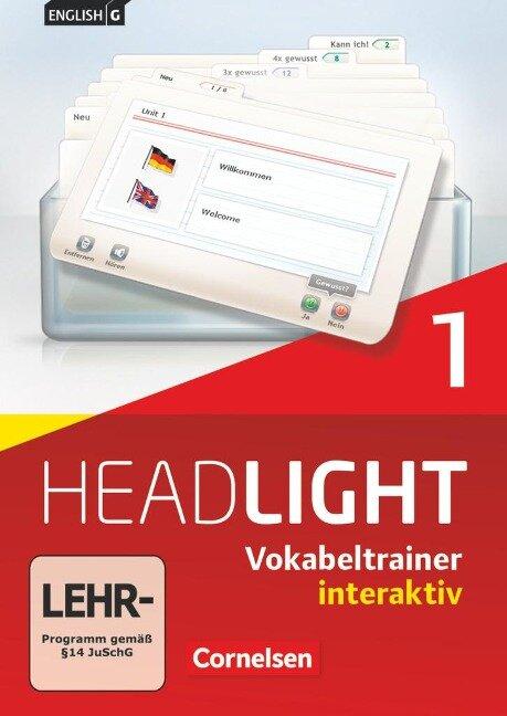 English G Headlight 01: 5. Schuljahr. Vokabeltrainer interaktiv -