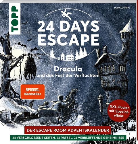 24 DAYS ESCAPE - Der Escape Room Adventskalender: Dracula und das Fest der Verfluchten - Yoda Zhang