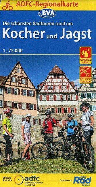 ADFC-Regionalkarte Die schönsten Radtouren rund um Kocher und Jagst 1:75.000