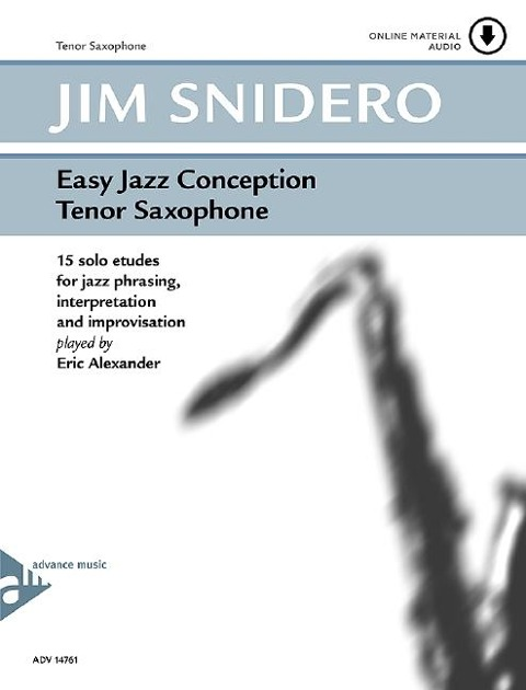 Easy Jazz Conception Tenor Saxophone - Jim Snidero
