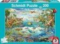 Entdecke die Dinosaurier, 200 Teile - Kinderpuzzle -