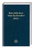 Kirchlicher Amtskalender 2018 - blau -