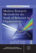 Modern Research Methods for the Study of Behavior in Organizations -