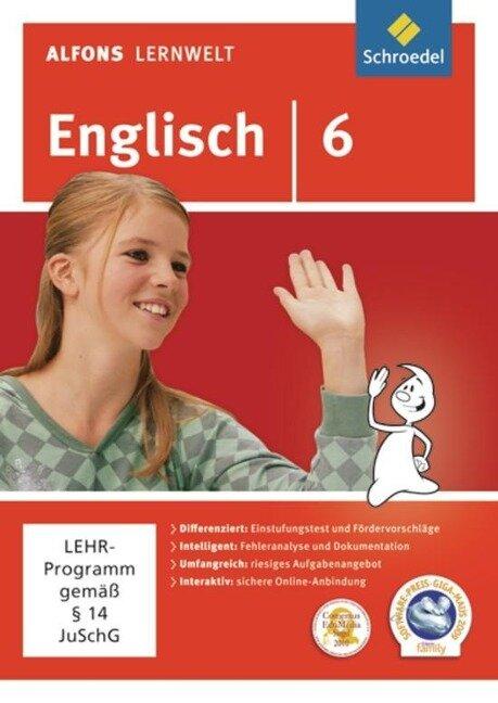 Alfons Lernwelt Lernsoftware Englisch 6. CD-ROM für Windows 7; Vista; XP und Mac -
