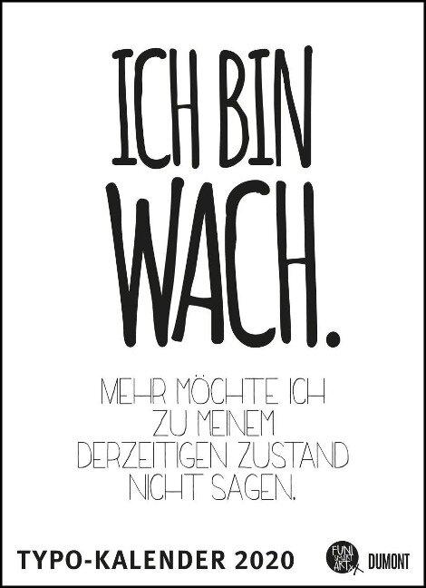 Sprüche-Kalender 2020 - Typo-Kalender von FUNI SMART ART - Poster-Format 49,5 x 68,5 cm