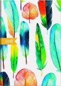 Brunnen Buchkalender 2019 Grafik, Federn A5, Modell 796 -