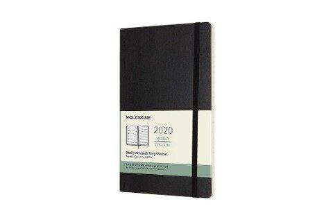 Moleskine 12-Month Weekly Notebook Planner 2020 - Black -
