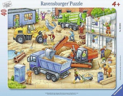 Große Baustellenfahrzeuge. 30-48 Teile Rahmenpuzzle -
