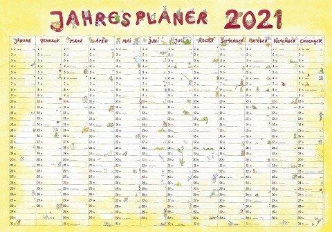 Jahresplaner Cartoon 2021 -