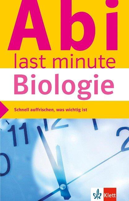 Abi last minute Biologie -