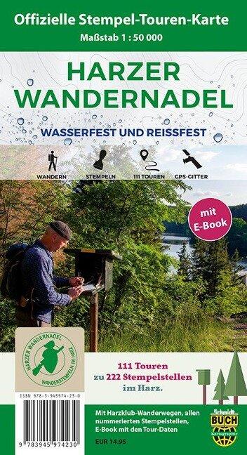 Harzer Wandernadel 1 : 50 000, mit E-Book -