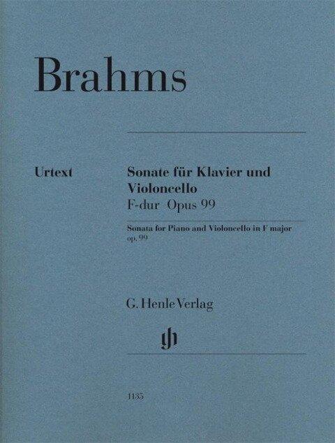 Sonate für Klavier und Violoncello F-dur Opus 99 - Johannes Brahms
