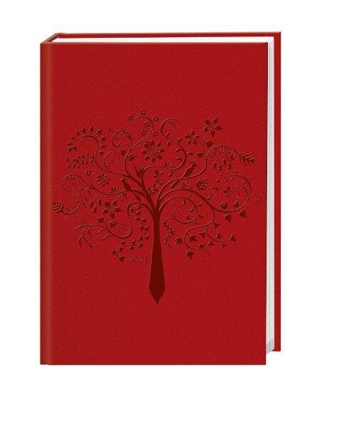 Terminer A6, geprägt rot Kalender 2021 -