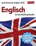 Sprachkalender Englisch 2018 - Jennifer Gallagher, Steffen Butz