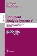 Document Analysis Systems V -