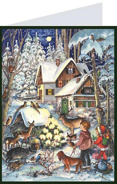 "Adventskalender ""Postkarte Waldweihnacht"" - Anita Rahlweß"