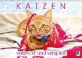 Edition lustige Tiere: Katzen - verstrickt und verspielt (Wandkalender 2018 DIN A2 quer) - K. A. Calvendo