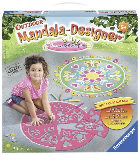 Outdoor Mandala-Designer Flowers & Butterflies Outdoor -