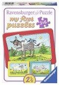 Esel, Schaf und Ziege My first puzzle - Rahmenpuzzle -