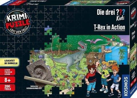Krimi Puzzle: Die drei ??? Kids 200 Teile - T-Rex in Action (drei Fragezeichen) -