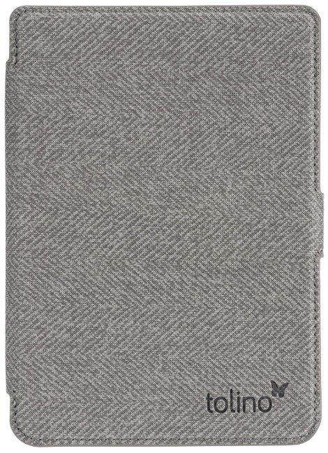 tolino shine 3 - Tasche Slim Grau/Rot -