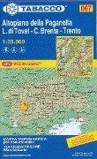 Tabacco Wandern 1 : 25 000 Altopiano della Paganella. L. di Tovel - C. Brenta - Trento -