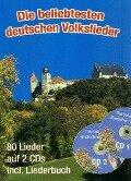 Die beliebtesten deutschen Volkslieder (A5 mit CDs) - Gerhard Hildner