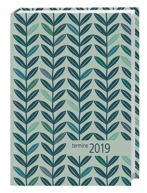 times & more Kalenderbuch 2019 Blätter petrol -