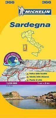 Sardinia - Michelin Local Map 366 -
