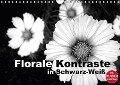 Florale Kontraste in Schwarz-Weiß (Wandkalender 2018 DIN A4 quer) - Linda Schilling
