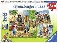 Abenteuer auf hoher See. Kinderpuzzle 3 x 49 Teile -