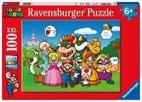 Ravensburger Kinderpuzzle 12992 - Super Mario Fun 100 Teile XXL - Puzzle für Kinder ab 6 Jahren -