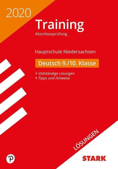 Lösungen zu Training Abschlussprüfung Hauptschule 2020 - Deutsch 9./10. Klasse - Niedersachsen -