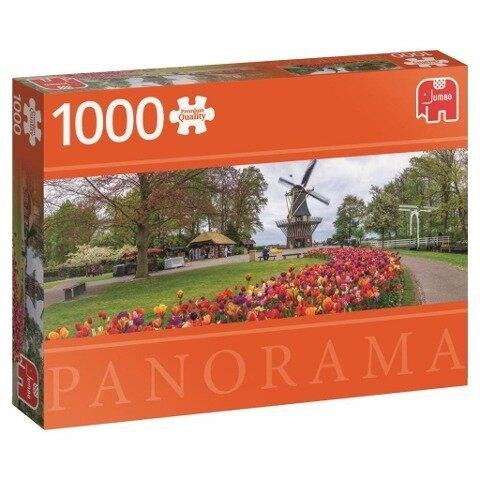 Keukenhof, Niederlande - 1000 Teile Panorama Puzzle -