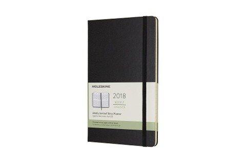 Moleskine 12 Monate Wochenkalender 2018, A5 Hard Cover, Schwarz -
