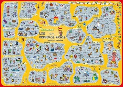mindmemo Lernposter - Los primeros pasos - Spanisch für Einsteiger - Vokabeln lernen mit Bildern - Zusammenfassung - Hunstein Philipp