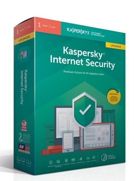 Kaspersky Internet Security Upgrade (Code in a Box). Für Windows 7/8/10/MAC/Android -